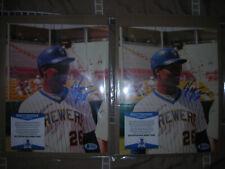 (2) 2020 Historic Autographs 8X10 Big League Photos Of Glenn Bragg Beckett Coa