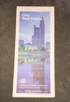 1989 AAA Map Of Ohio - West Virginia