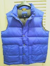 Lands End Mens Blue Goose Down Puffer Vest Medium 38 - 40 NWOT