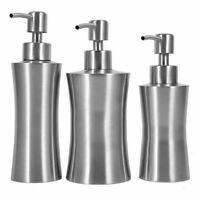 Stainless Steel Liquid Soap Dispenser Lotion Pump Tube Kitchen Sink Bathroom