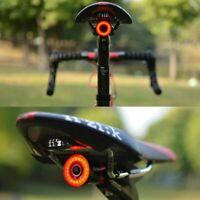 XLite100 Waterproof Bicycle Smart Brake Light Sense LED USB Tail Rear Lamp Black