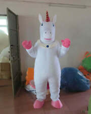 HOT Unicorn Cartoon Mascot Costume Fancy Dress Halloween party game Adult Size
