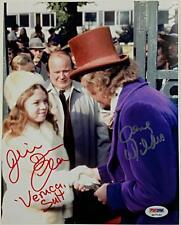 GENE WILDER + JULIE DAWN COLE Signed 8x10 Photo Willy Wonka Auto PSA #4A77165