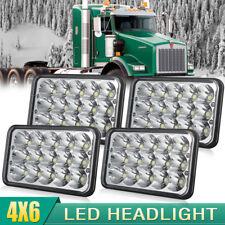 "4x Triple row 4""x6"" inch LED Headlights DRL for Kenworth Freightliner Peterbilt"
