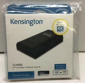 Brand New Kensington VU4000 4K Video Adaptor-USB 3.0 to HDMI-Factory Sealed