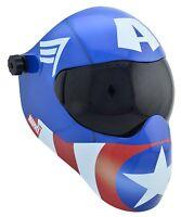New Save Phace EFP-B Series Welding Helmet #10 & Clear  - Marvel Captain America