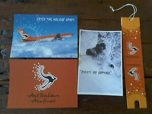 4 air australian first class postcards baggage business tags airlines airways