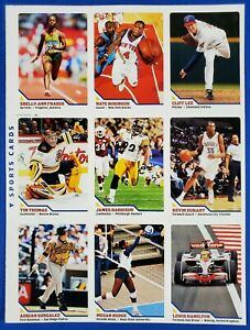 2009 Lewis Hamilton ROOKIE SI Sports Illustrated for Kids #360 UNCUT SHEET