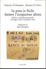 L159  - D'ALESSANDRO  - LA POSTA IN SICILIA 1943-1944