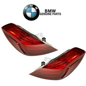 For BMW F12 F06 6-Series Pair Set of 2 Outer Taillights Rear Fender Lamp Geguine