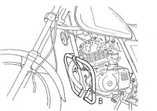 Hepco & Becker Engine Guard Crash bar 501311 00 02 for Suzuki Gn 125 91-96