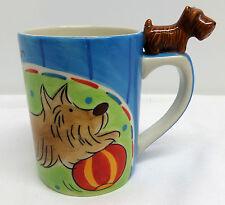 Scottish Terrier Figural Blue Silea Coffee Mug Scottie Dog Figurine on Handle
