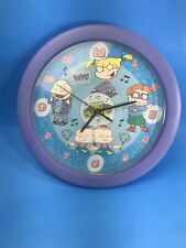 NICKELODEON 90s RUGRATS TALKING WALL CLOCK TOMMY ANGELICA CHUCKIE PHIL AND LIL