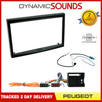 Double Din Stereo Radio Fitting Kit Fascia Panel Adapter for Peugeot 207 307