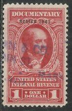 U.S. Revenue Documentary stamp scott r323 - $1.00 issue of 1941
