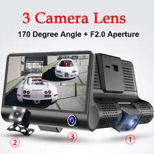 4''HD 1080P Dual Lens DVR Dash Cam G-sensor Video Recorder+ Rearview Top Quality