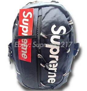 BLACK SUPREME BACKPACK  - *BRAND NEW - FREE FAST SHIPPING*