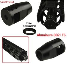 Aluminum Muzzle Brake .223 5.56 1/2-28 CA Compliant For Featureless US Seller