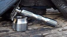 Solid Pure Titanium Razor Handle with stand. Fits any razor heads. Bear's STP