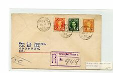 8c+4c+1c Registered 1938 Canada cover trimmed