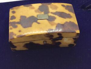 Georgian Faux Tortoise Shell Trinket Box