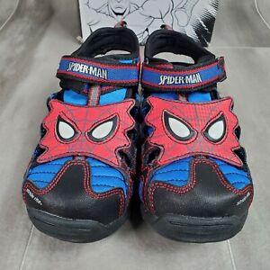 Stride Rite Marvel Spider-Man Light-up Eyes Youth Red, Blue, Black 11.5W