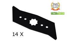 14X Vertikutierer Messer für Wolf Garten UV 28 30 32 34 EV EL E B / Asgatec 1100
