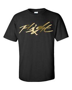 Michael Jordan Flight T-Shirt - Many Options of Colors on a Black Shirt - S-5XL