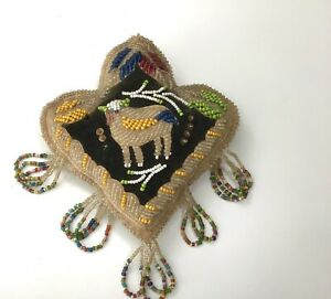 Antique Native Am. Beaded Whimsey Pincushion