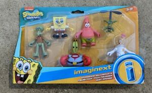 Fisher Price Imaginext SpongeBob Figure Pack Patrick Squidward Mr.Krabs Plankton
