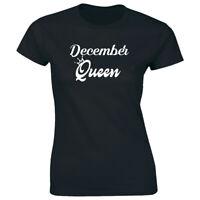 December Queen Short Sleeve T-Shirt for Women Birthday Celebration Gift Tee
