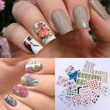 5Sheets Nail Water Decals Animal Flower Nail Art Transfer Sticker Random Pattern