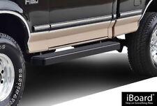 "iBoard Running Boards 5"" Matte Black Fit 80-96 Ford Bronco/F150 Regular Cab"