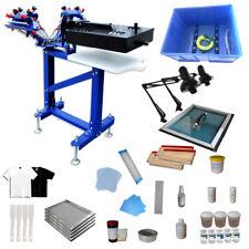 4 Color 1 Station Screen Printing Kit Press Materials & Exposure/ Flash Dryer