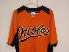 BALTIMORE ORIOLES MAJESTIC BUTTON UP COOL BASE!! YOUTH LARGE. NEW! ONLY ONE!!