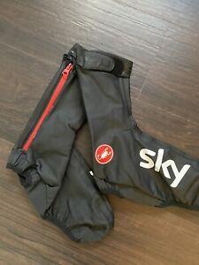 Castelli Aero Rain Shoe Cover Large Rosso Corsa Team Sky Issued