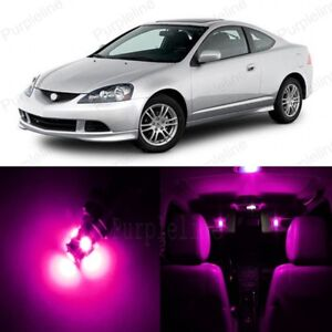 8 x Pink LED Interior Lights Package For 2002 - 2006 Acura RSX + PRY TOOL