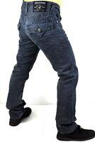 True Religion Men's Hand Picked FQC Blue Sunlight Straight Jeans - 101362