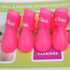 4Pcs/set Colorful Sport Shoe Waterproof Pet Dog Shoes Lovely Portable Rain Boots