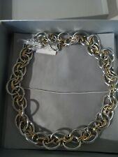 BNWT Calvin Klein Gold & Silver Tone T Bar Chain Necklace