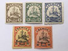 old stamps   GERMAN SAMOA   x  5