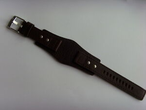 Fossil Original Spare Leather Strap JR1068 Watch Band Braun Brown 20 MM