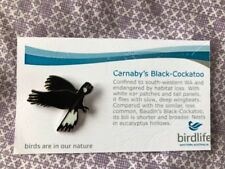 Not RSPB Birdlife Australia Pin Badge Carnaby's Black-Cockatoo