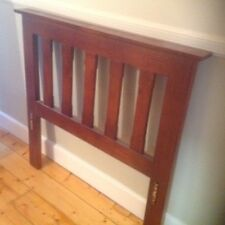 Wooden Double Bed Frame Solid Stained Pine