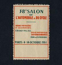 PARIS Salon de l'Automobile & du Cycle / Auto - Vignette von 1951 - keine AK