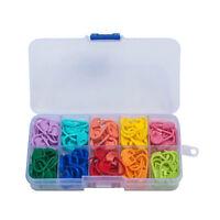 120pcs Knitting Crochet Locking Stitch Needle Clip Marker Holder Tool With Box