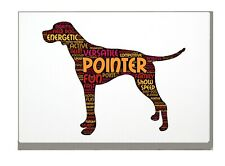 More details for pointer dog art print pointer word art a4a3 mothers day gift personalised option