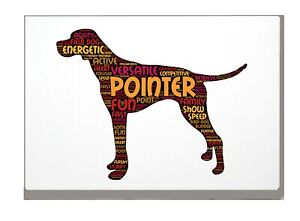 Pointer Dog Art Print Pointer Word Art A4A3 Mothers Day Gift Personalised Option