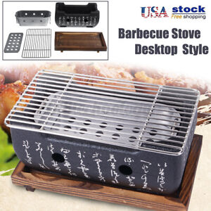 5-IN-1 Japanese Korean Style Ceramic BBQ Grill Hibachi Charcoal Barbecue Stove
