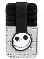 Disney Parks Star Jack Skellington Face Credit Card Holder ID Snap Wallet - NEW